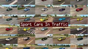Sport Cars Traffic Pack By Trafficmaniac V2 4 Mod Ets2 Mod
