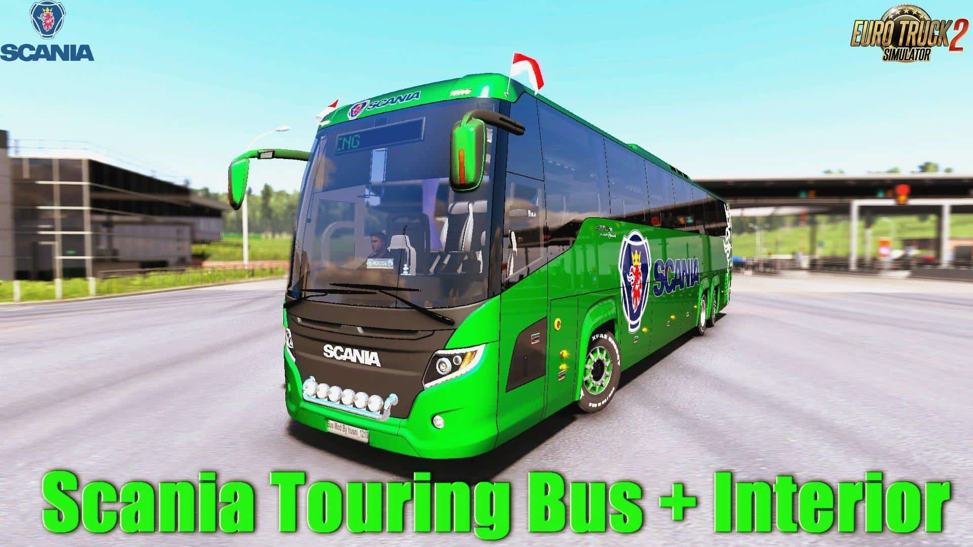 Seat Skins For Trucks >> SCANIA TOURING BUS 1.33.X MOD - ETS2 Mod