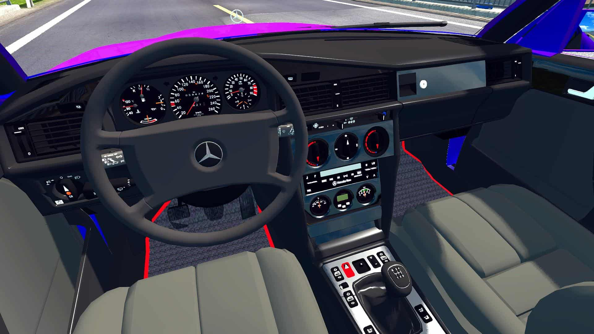 Mercedes Benz 190e Ets2 1 34 Fix Car Mod Ets2 Mod