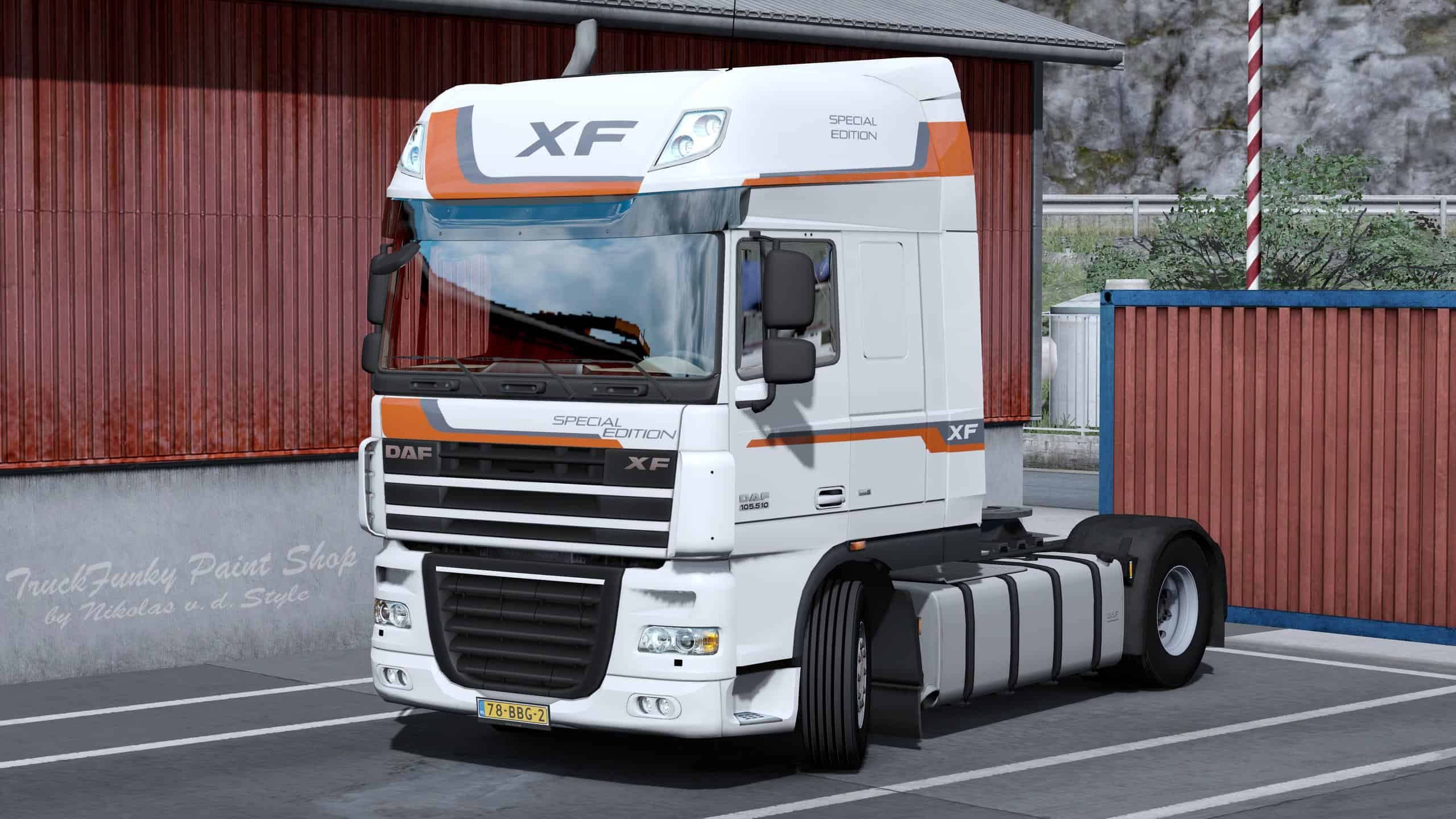 SKIN SPECIAL EDITION FOR DAF XF 105 BY VAD&K V1 0 TRUCK SKIN