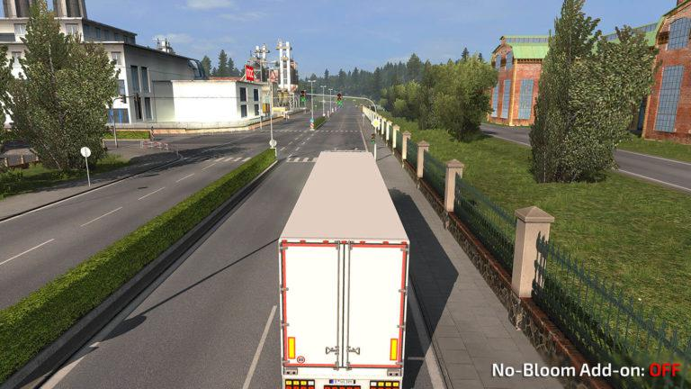 NO-BLOOM ADDON V1 0 FOR REALISTIC GRAPHICS MOD BY FRKN64 MOD - ETS2 Mod