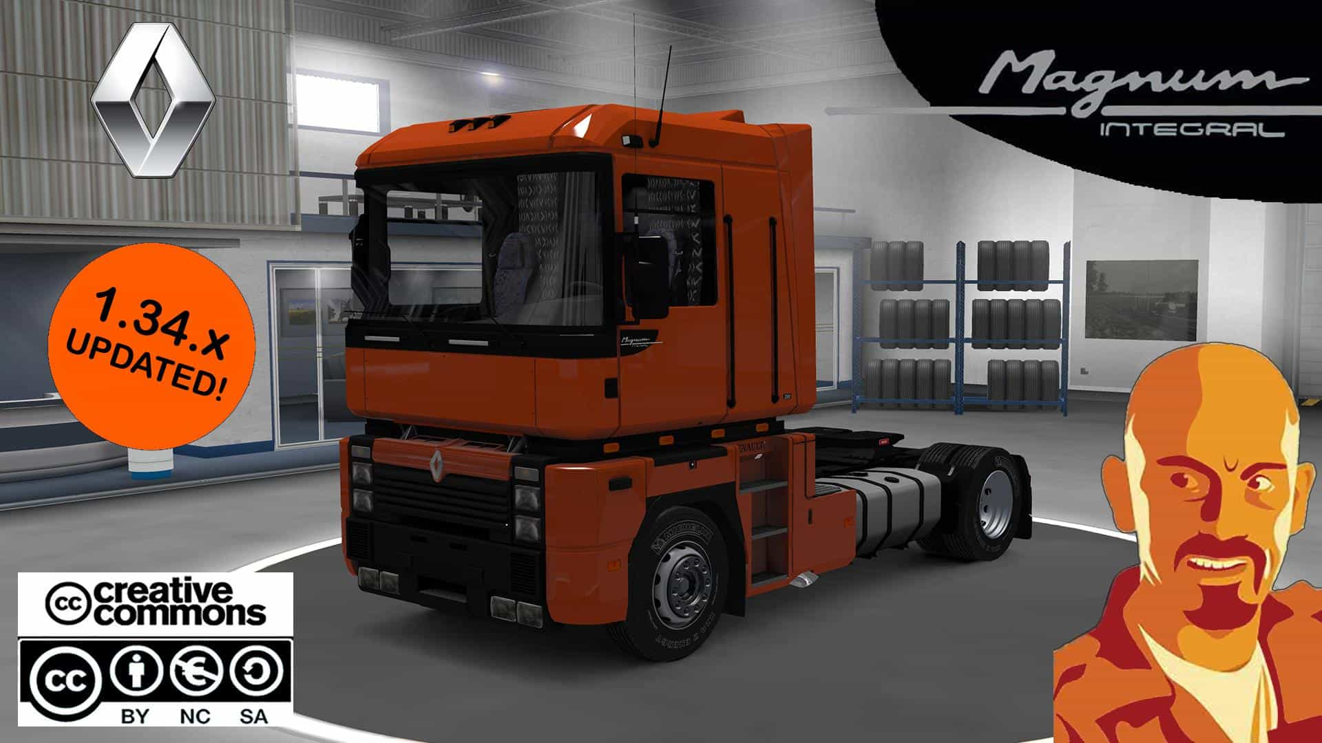 renault integral ets2 truck mod ets2 mod. Black Bedroom Furniture Sets. Home Design Ideas