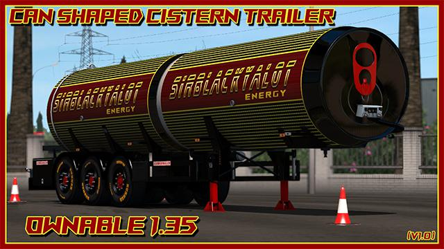 CAN TANKER TRAILER (FOOD GRADE) OWNABLE 1 35 X ETS2 - ETS2 Mod