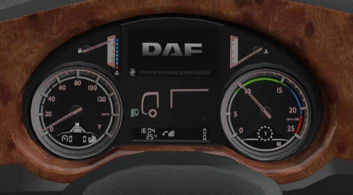 DAF XF EURO6 BOARD COMPUTER WITH OWN SOUNDS 1 35 X INTERIOR
