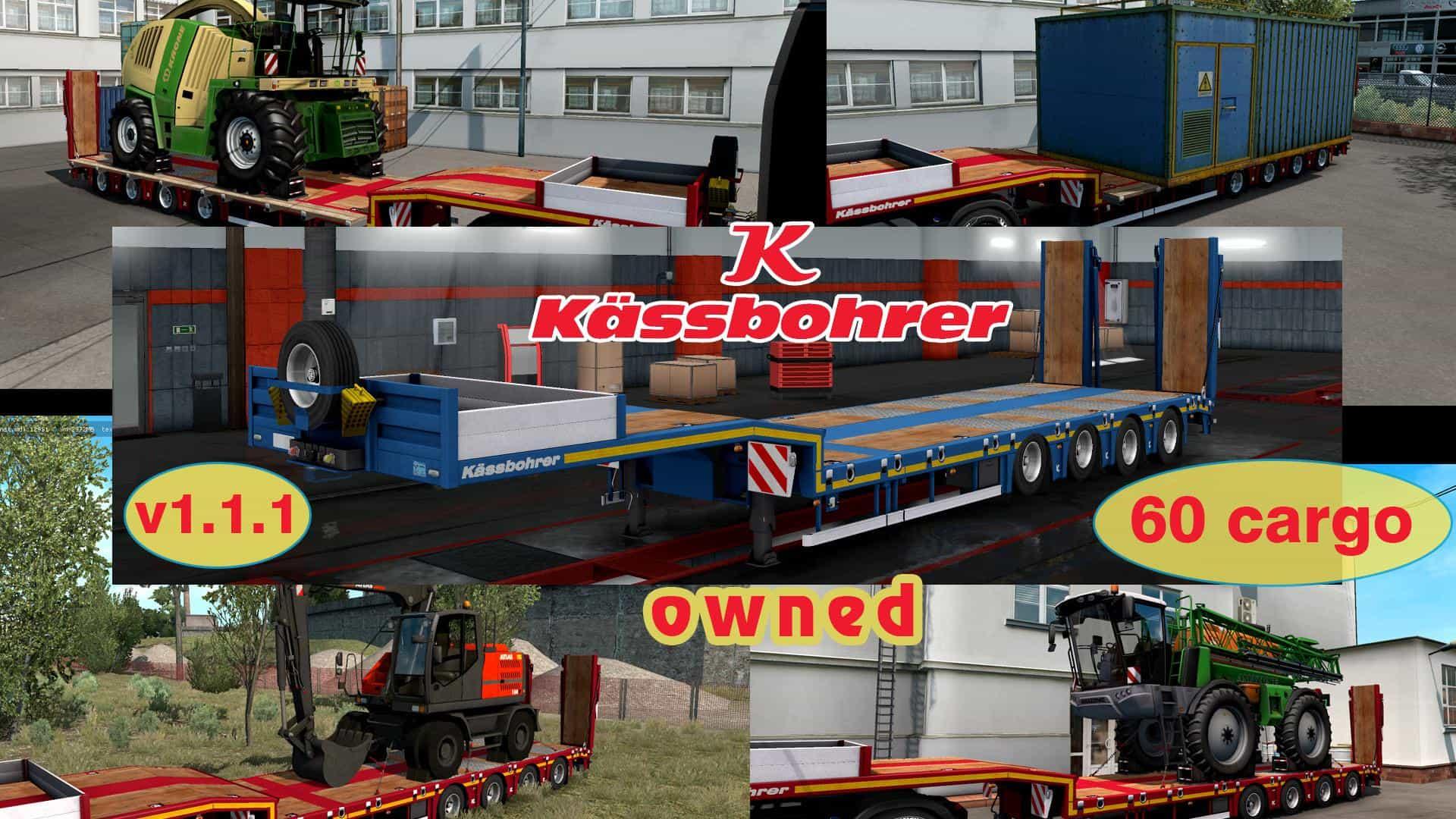 OWNABLE OVERWEIGHT TRAILER KASSBOHRER LB4E V1 1 1 ETS2 - ETS2 Mod