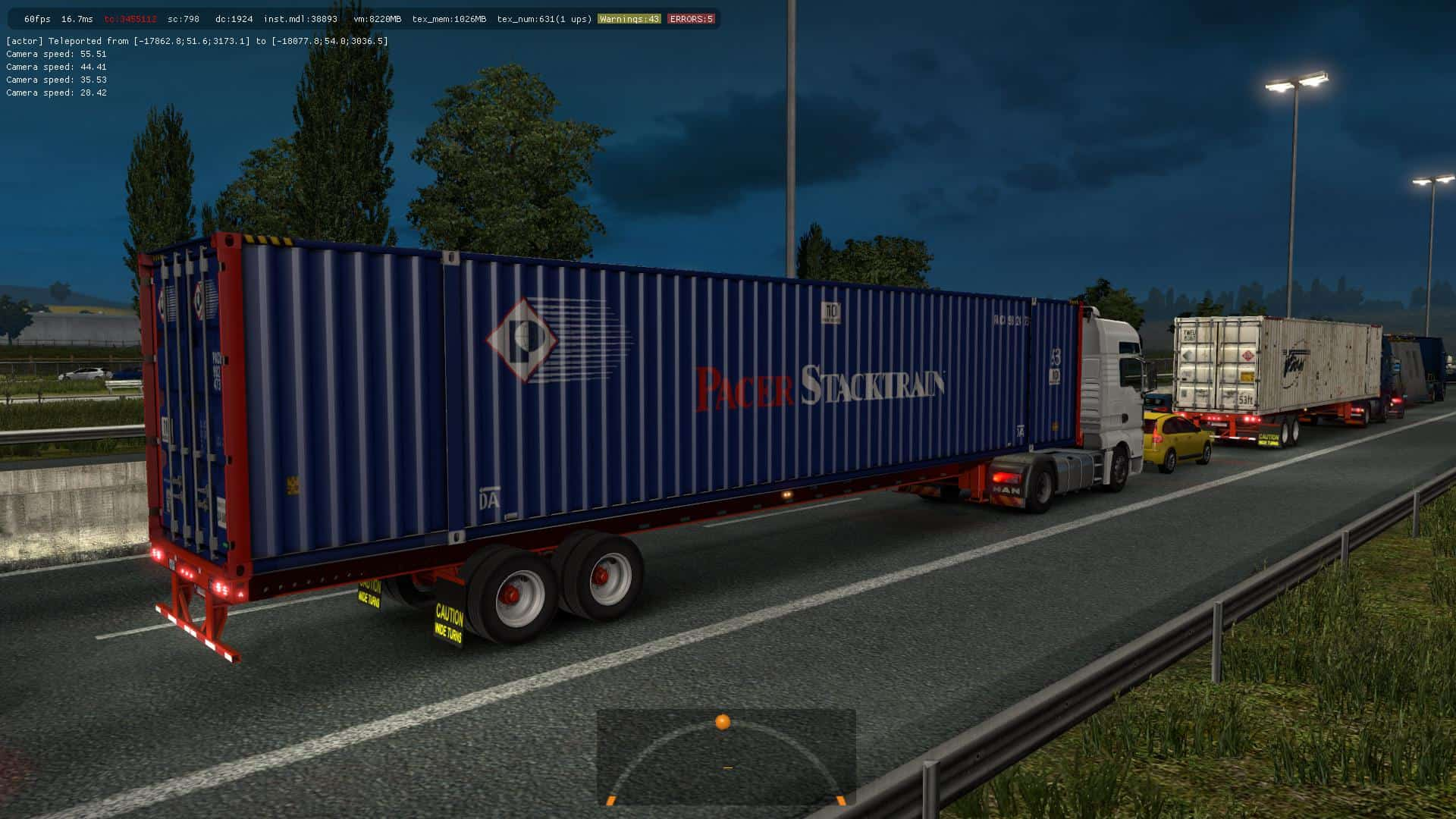 53 FT CONTAINERS IN TRAFFIC ETS2 1 35 X MOD - ETS2 Mod