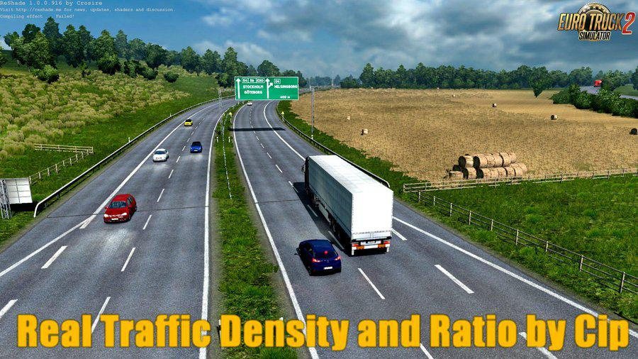 REAL TRAFFIC DENSITY AND RATIO 1 35 F MOD - ETS2 Mod