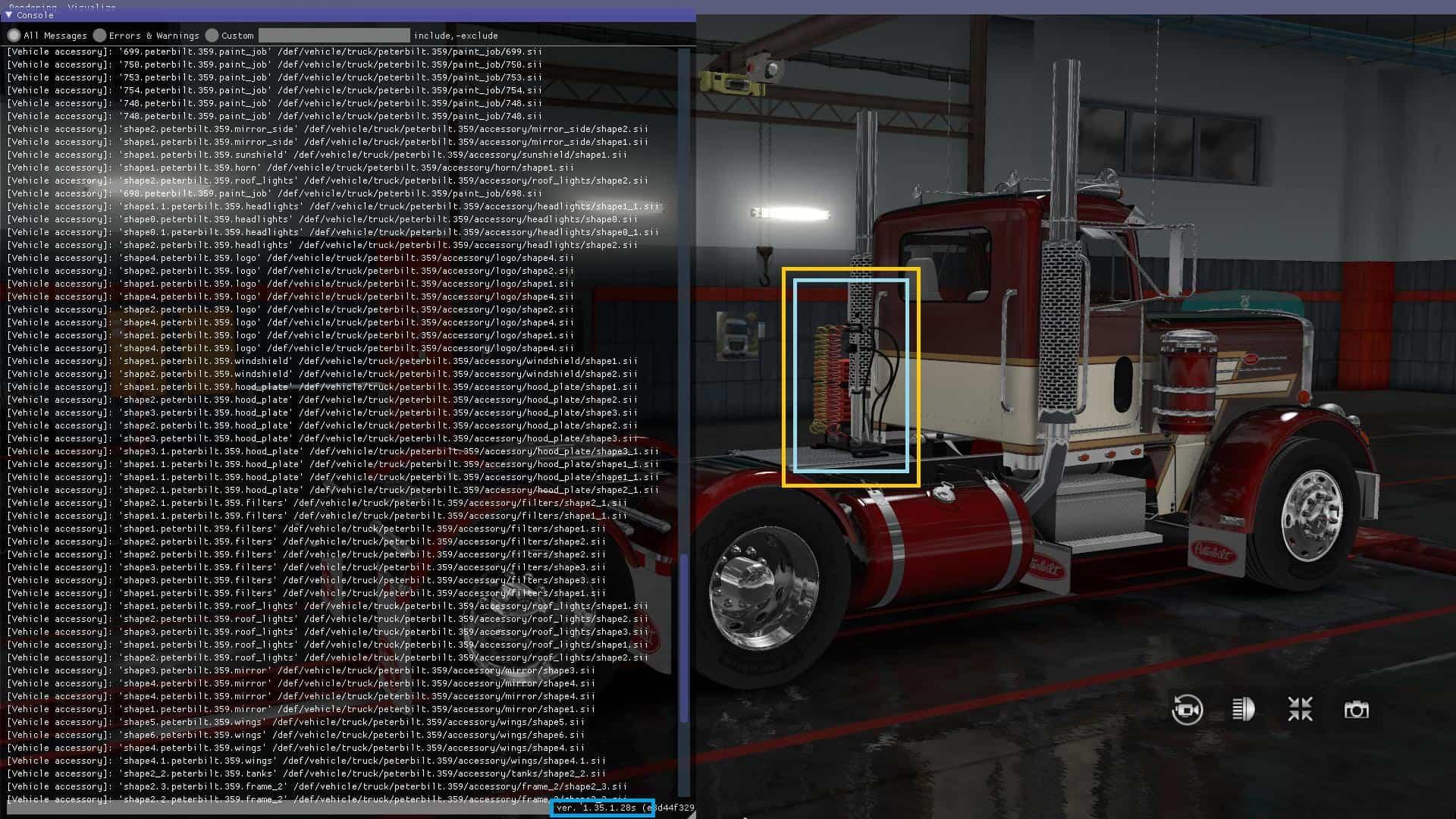 PETERBILT 359 V2 1 ETS2 1 35 X + DX11 TRUCK - ETS2 Mod