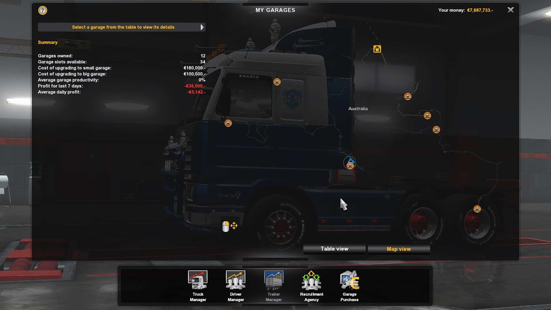 Australia Map Ets2.Save Game Profile For Australia Tasmania Map Ets2 1 35 Ets2 Mod